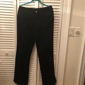 Yansi Fugel women black corduroy pants, bootcut 12